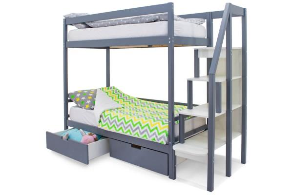 Двухъярусная кровать Бельмарко Графит