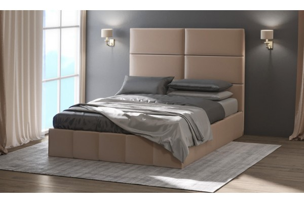 Кровать с мягким изголовьемМедисон-2 90*200