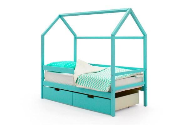 Детская кровать-домик Бельмарко Мятный