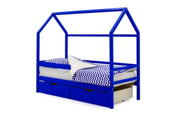Детская кровать-домик Бельмарко Синий