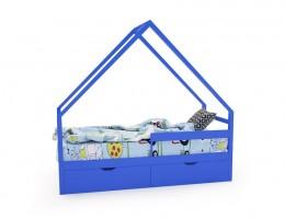 Кровать-домик «SCANDI» синий