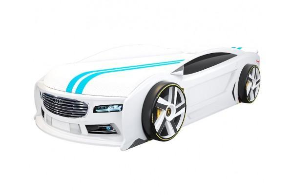 Кровать машина Ауди Манго Белая