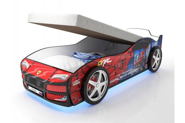 Кровать машина Человек Паук Турбо Спайдер с подъемным матрасом