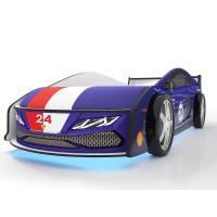 Кровать машина Ламба Синяя с подъемным механизмом