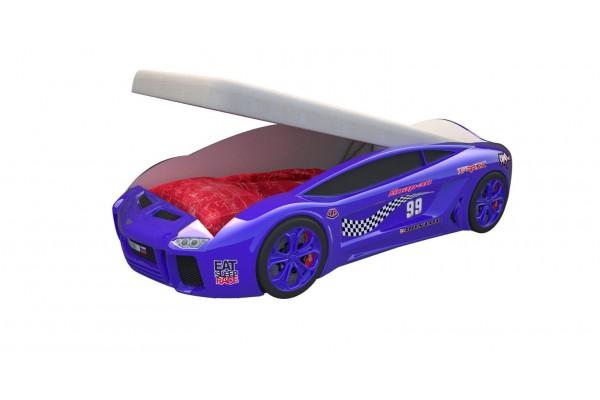 Кровать машина Ламба Next Синяя2 с подъемным механизмом