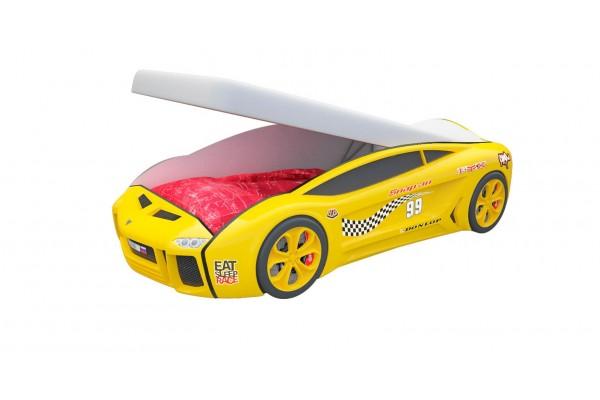 Кровать машина Ламба Next Желтая с подъемным механизмом