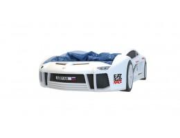Кровать машина объемная Ламба Next Белая 2