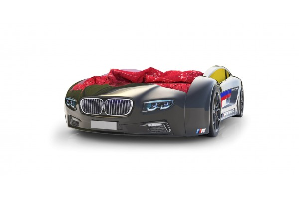 Объемная кровать машина Roadster БМВ Черная