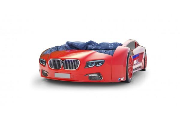 Объемная кровать машина Roadster БМВ Красная
