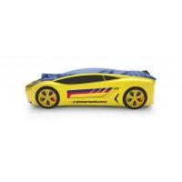Объемная кровать машина Roadster БМВ Желтая
