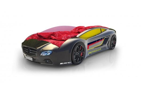 Объемная кровать машина Roadster Мерседес Черный