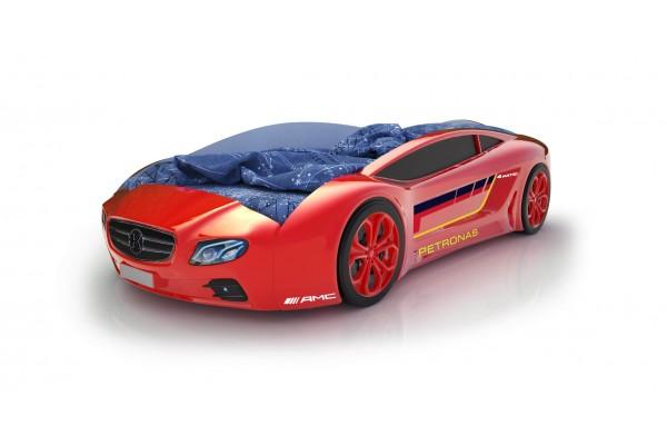Объемная кровать машина Roadster Мерседес Красный