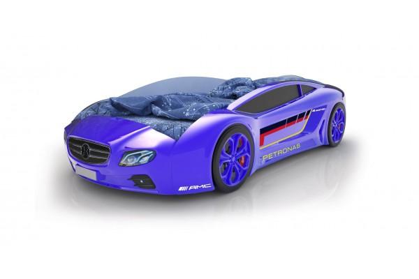 Объемная кровать машина Roadster Мерседес Синяя