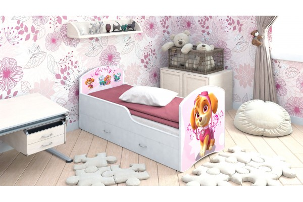 Детская кровать Classic Щенячий патруль Скай с ящиками