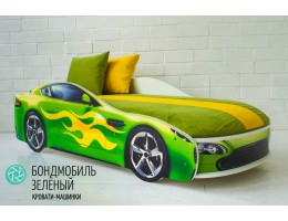 Детская кровать - машина БОНДМОБИЛЬ ЗЕЛЕНЫЙ