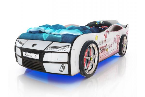 Детская кровать-машина Romack Белый Мишка