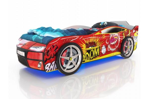 Детская кровать-машина Romack Красный Бум