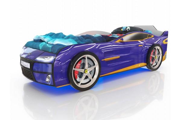 Детская кровать-машина Romack Синий