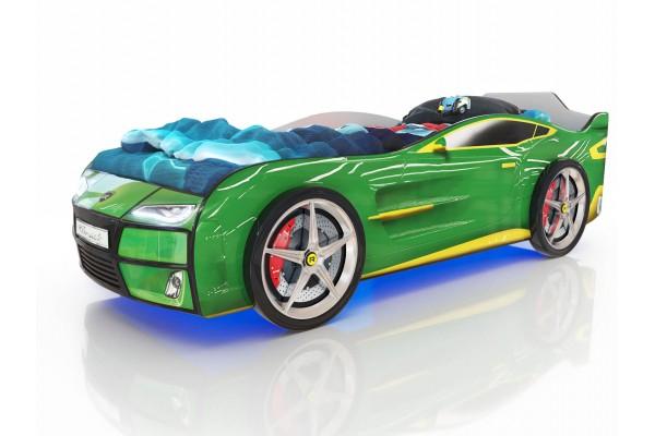 Детская кровать-машина Romack Зеленый