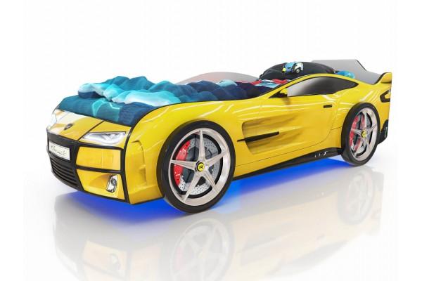 Детская кровать-машина Romack Желтый