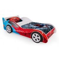 Детская кровать - машина SpyderMan (Человек паук) с ящиками для белья
