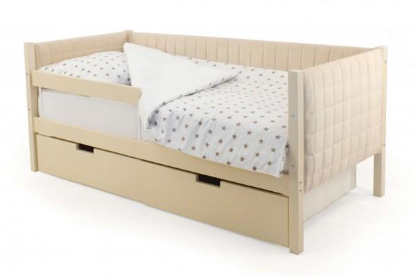 Детская кровать-тахта мягкая Бельмарко «Skogen бежевый»