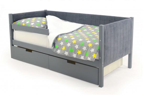 Детская кровать-тахта мягкая Бельмарко «Skogen графит»