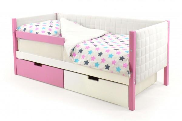Детская кровать-тахта мягкая Бельмарко «Skogen лаванда-белый»