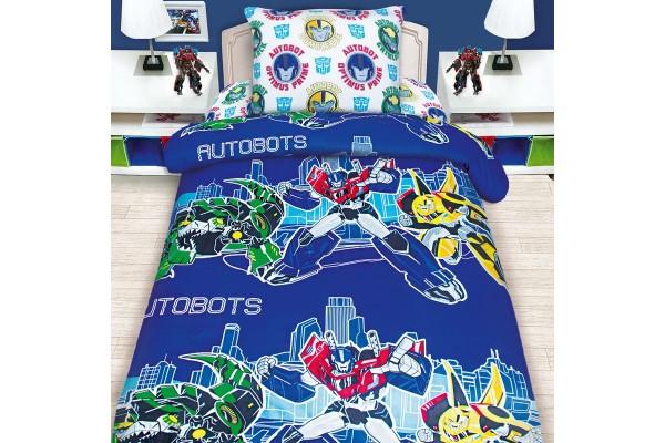 Детское постельное белье Transformers Автоботы / Трансформеры Автоботы (бязь, 100% хлопок)