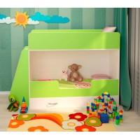 Двухъярусная кровать Зеленая