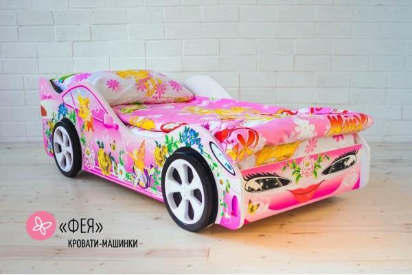 Кровать-машина для девочки ФЕЯ
