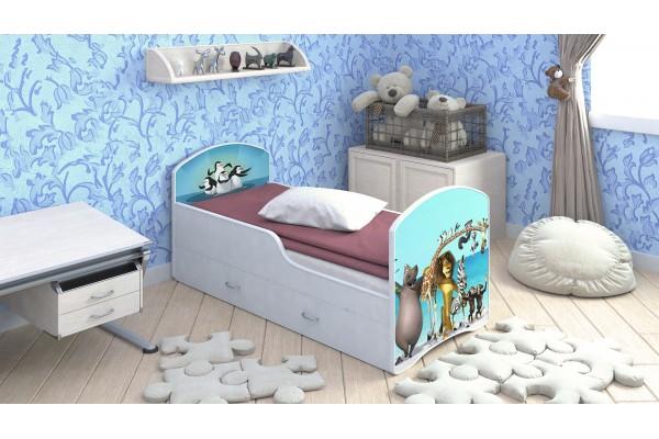 Детская кровать Classic Мадагаскар с ящиками