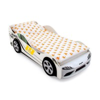 Объемная кровать машина Бельмарко Супра Белая