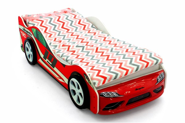 Объемная кровать машина Бельмарко Супра Красная