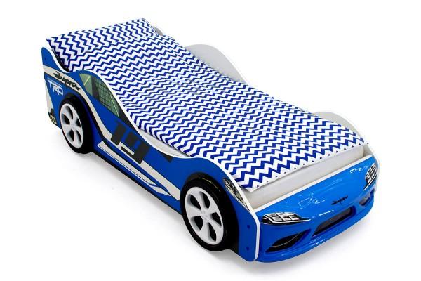 Объемная кровать машина Бельмарко Супра Синяя