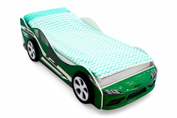 Объемная кровать машина Бельмарко Супра Зеленая