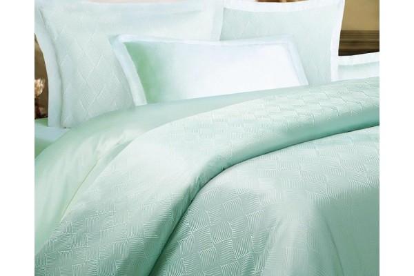 Комплект постельного белья Ромб мятный