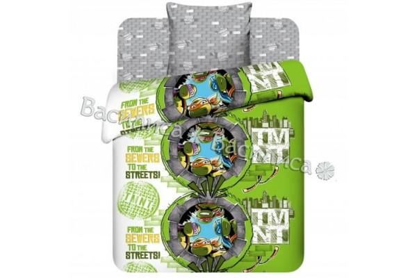 Детское постельное белье Черепашки ниндзя (100%хлопок)