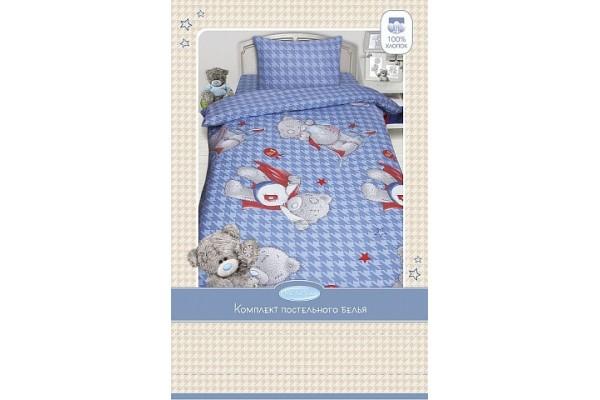 Детское постельное белье  MTY Ded на голубом (бязь, 100% хлопок)