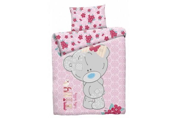 Детское постельное белье Тедди для девочки (бязь, 100% хлопок). РАЗМЕР ЯСЛИ