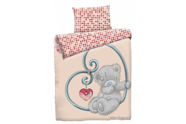 Детское постельное белье Тедди на сердце (бязь, 100% хлопок)