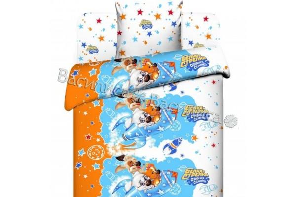 Детское постельное белье Василиса. Белка и стрелка (бязь, 100% хлопок)
