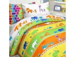 Детское постельное белье Зоопарк (бязь, 100% хлопок)
