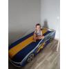Кровать с подъемным механизмом детская БОНДМОБИЛЬ СИНИЙ