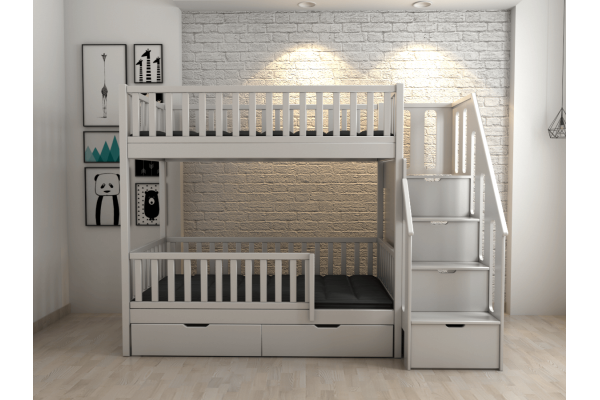 Двухъярусная кровать Lagurin с комодом