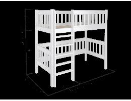 Кроватка домик чердак из массива Fabilia